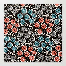 Mid Century Modern Flower Bouquet Pattern 944 Canvas Print