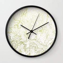 Secret places I - handmade green map Wall Clock