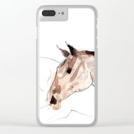 Horses (young lusitanos) Clear iPhone Case