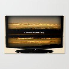 My work on TV Canvas Print