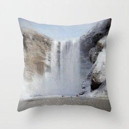 Skógafoss (Skogafoss) Throw Pillow