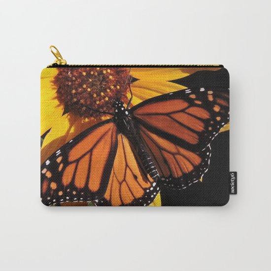 Monarch on a Desert Sunflower Carry-All Pouch