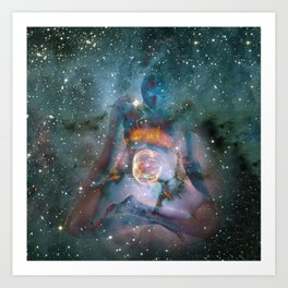 6689 Birthing the Universe a Feminine Power Collage by Chris Maher Art Print