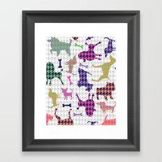 Houndstooth Hounds Framed Art Print