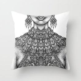 Necklines Throw Pillow