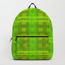 Green Glow Plaid Backpack