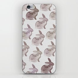 Watercolor Bunnies 1M by Kathy Morton Stanion iPhone Skin