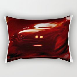 Flaming Alfa Gtv 916 Rectangular Pillow