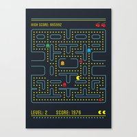 pacman Canvas Prints featuring Pacman by Virbia