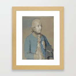 Portrait of Joseph II of Austria (1741-90), Roman-German emperor and later king of Hungary and Bohem Framed Art Print
