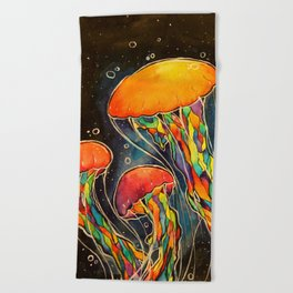 Rainbow Jellies Beach Towel