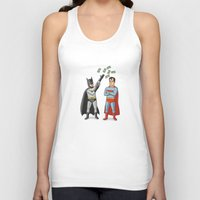 superheros Tank Tops featuring Super Rich by Ian Byers