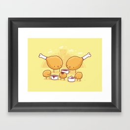Chicken Farm Framed Art Print