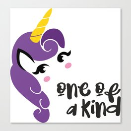 on of a knd, unicorn t shirt, unicon birthday gift Canvas Print