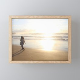 First Stepping Out onto the Beach ; Washed in White Light  Framed Mini Art Print