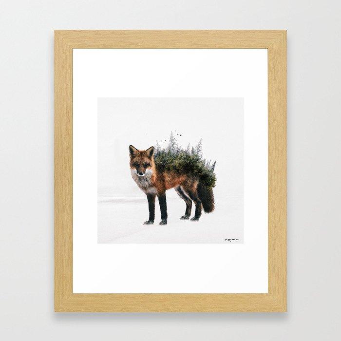 grow into nature Framed Art Print