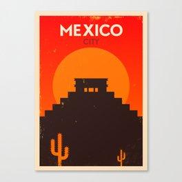 Vintage Mexico Poster Canvas Print