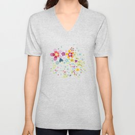 Schmetterlingswiese – Butterfly-Meadow Unisex V-Neck