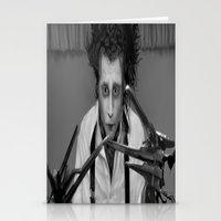 edward scissorhands Stationery Cards featuring Edward Scissorhands by ururuty