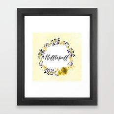 HP Hufflepuff in Watercolor Framed Art Print
