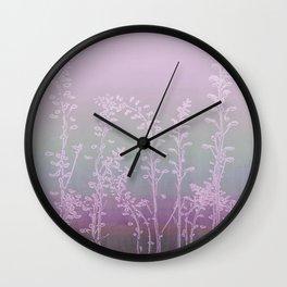 WILDFLOWERS - PINK GARDEN Wall Clock