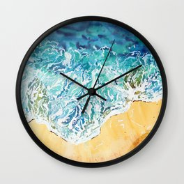 Ocean Waves at the Beach Wall Clock