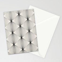 Geometric Orb Pattern - Black Stationery Cards