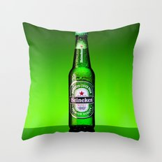Ice cold Heineken Throw Pillow