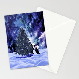 Panda's Christmas Holiday at the North Pole Stationery Cards