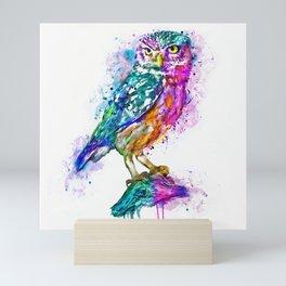 Colorful Owl Mini Art Print