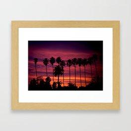 Sunset over Hollywood Framed Art Print