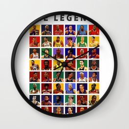 The Legends Of Players Wall Clock