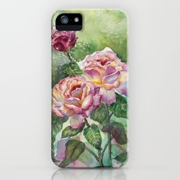 Grandma's Roses iPhone Case