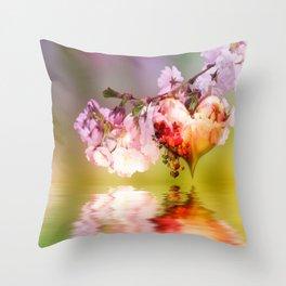 Frühlingsherz Throw Pillow