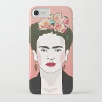frida iPhone & iPod Cases featuring Frida by Amanda Corbett