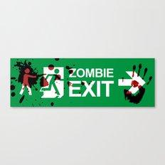 Zombie Exit - Variant Canvas Print