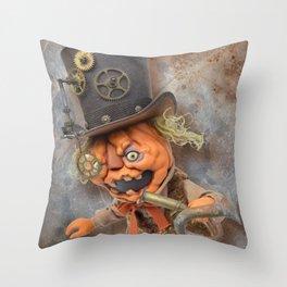 Rucus Studio Steam Punkin  Throw Pillow
