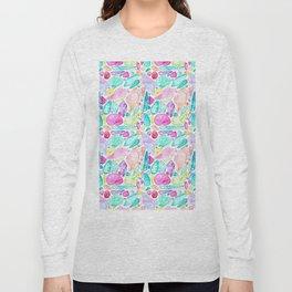 Rainbow Watercolor Seashells Long Sleeve T-shirt