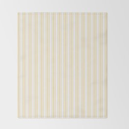 Trendy Large Buttercup Yellow Pastel Butter French Mattress Ticking Double Stripes Throw Blanket