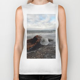 Driftwood And Ice in Spring Biker Tank