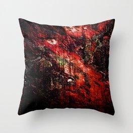 Natural Texture Deep Reds Throw Pillow