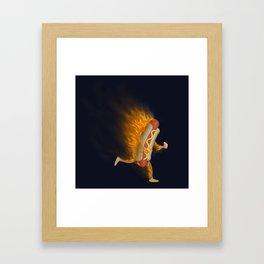 Flamin' Hot Dog Framed Art Print