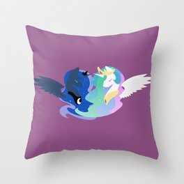 Princesses of Day and Night Throw Pillow