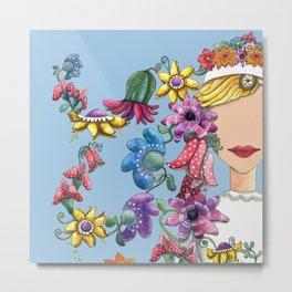 I Love the Flower Girl Metal Print