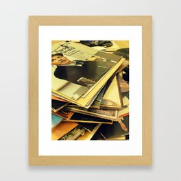 Old Blue Eyes and LPs Framed Art Print