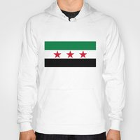 "islam Hoodies featuring Syrian ""independence flag""  High quality authentic color and scale version by Bruce Stanfield"
