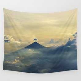 Aerial view sunset and clouds Wall Tapestry