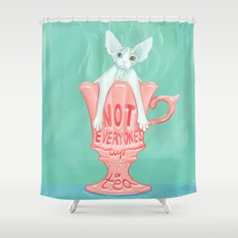 Not Everyone's Cup Of Tea - Sphynx Cat - Part 3 Shower Curtain