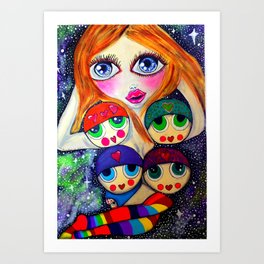 Miss Love Art Print