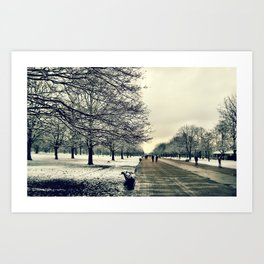 Hyde Park in winter Art Print